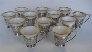 28 12 Gorham Sterling Demitasse Cups  Lenox