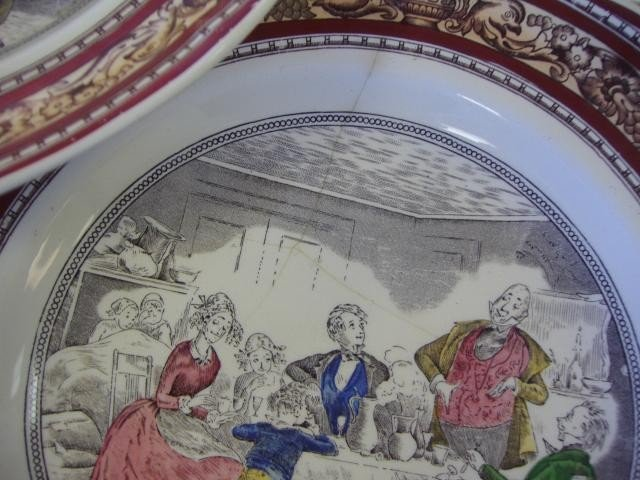 69: Adams Dickens Old Curiosity Shop Plates, Set of 5 - 4