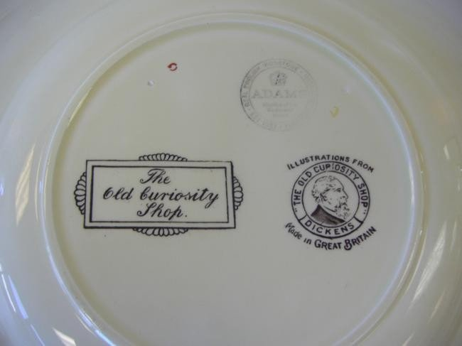 69: Adams Dickens Old Curiosity Shop Plates, Set of 5 - 5