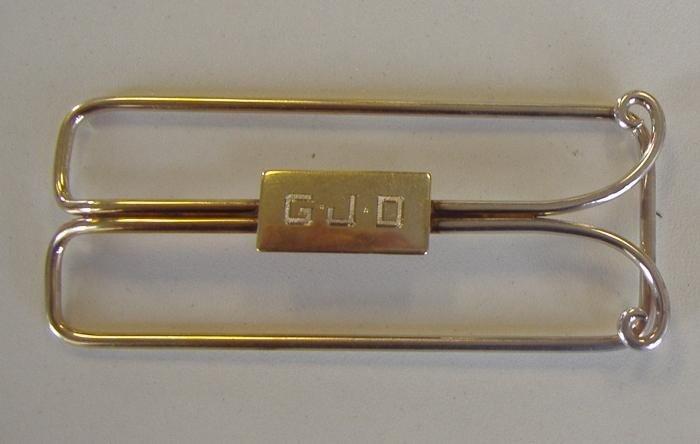 88: 14 Gold Money Clip & 14K Gold Male Garters - 2