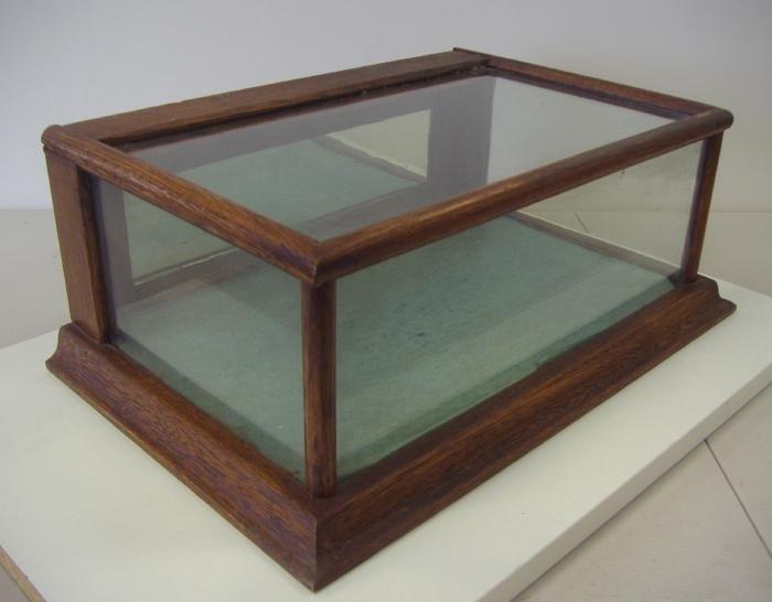 153: Vintage Oak & Glass Table Top Display Case - 2