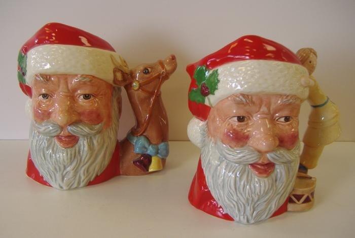 1: Two Royal Doulton Santa Claus Mugs