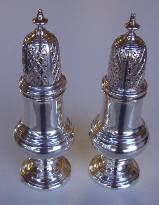 19: Sterling Salt & Pepper Shaker, England