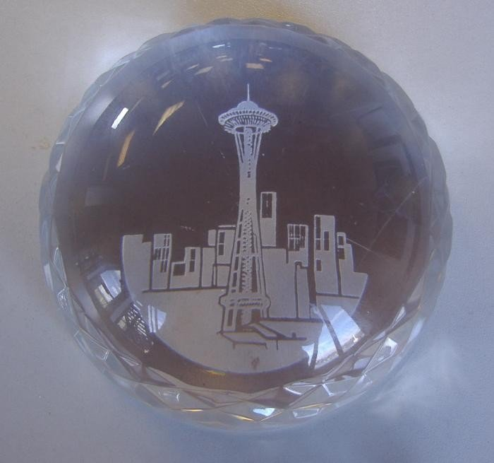 7: Waterford Seattle Paperweight, by Fred Curtis
