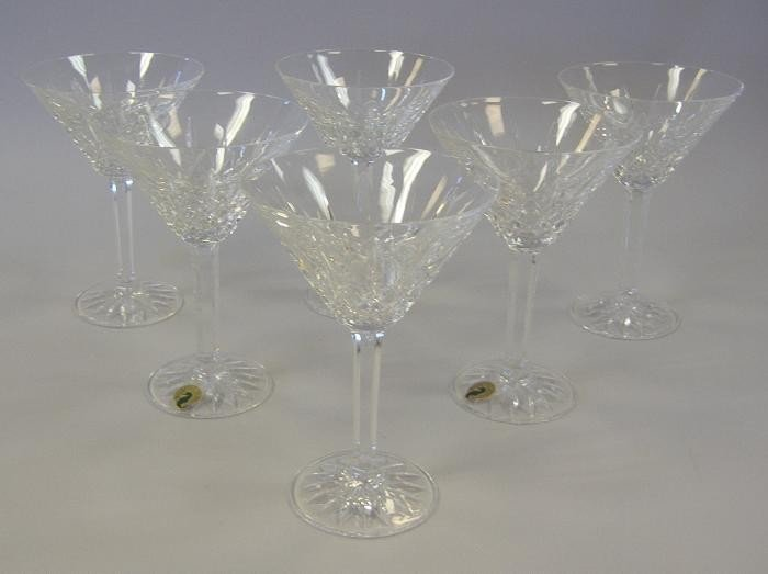 9: Six Waterford Lismore Martini Glasses