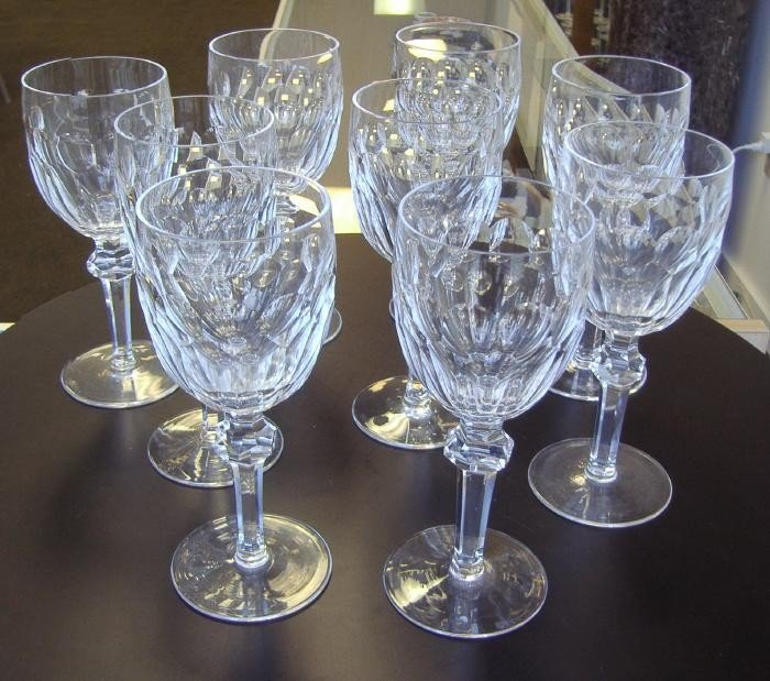 10: 9 Waterford Water Goblets, Curraghmore