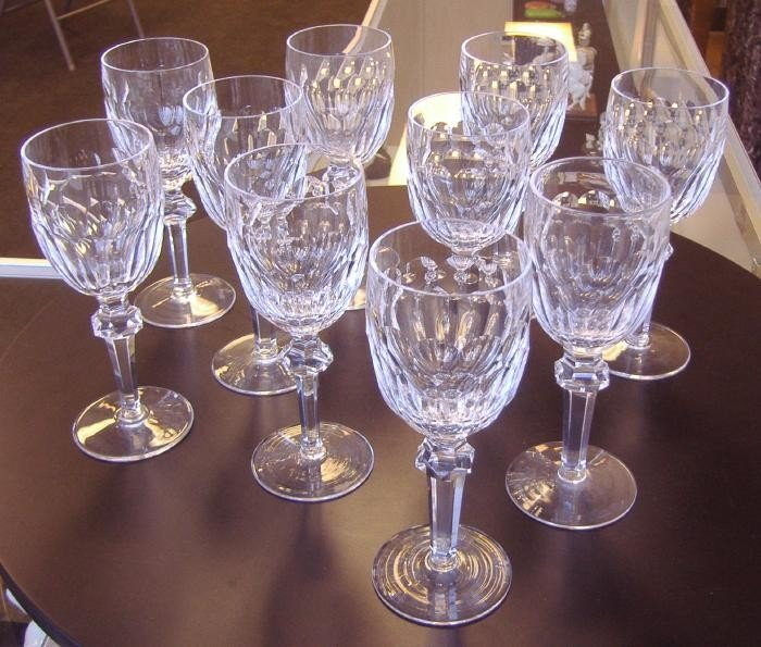 11: 10 Waterford Wine Goblets, Curraghmore