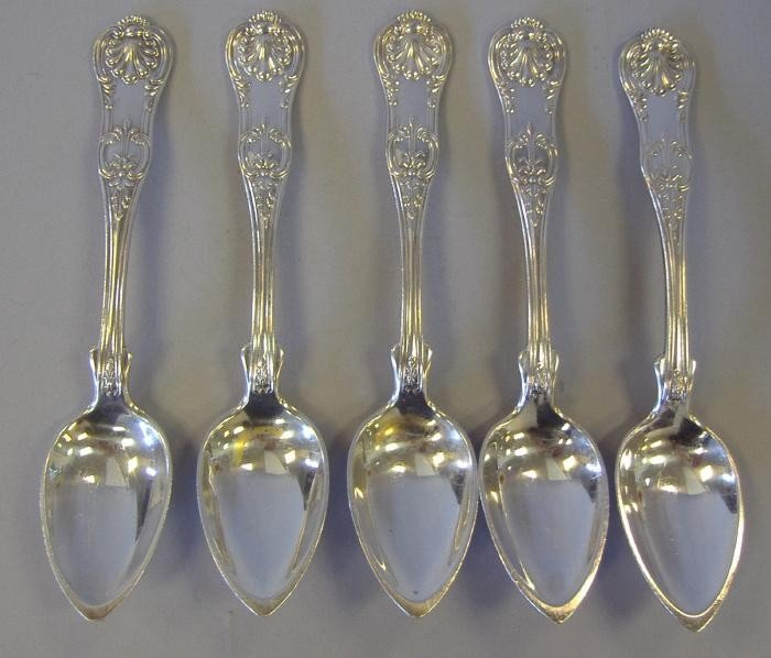 20: 5 Sterling (950) Citrus Spoons by Ball Black & Co