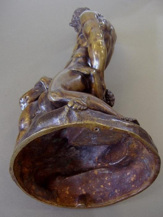 134: Male Nude Bronze Samson Slaying 2 Philistines - 6