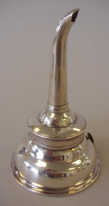 16: Sterling Wine Funnel, London, 1788, Crested
