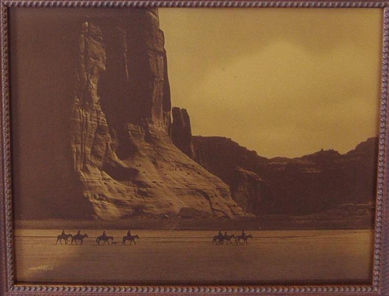 128: Edward S. Curtis Orotone Canon de Chelly Canyon