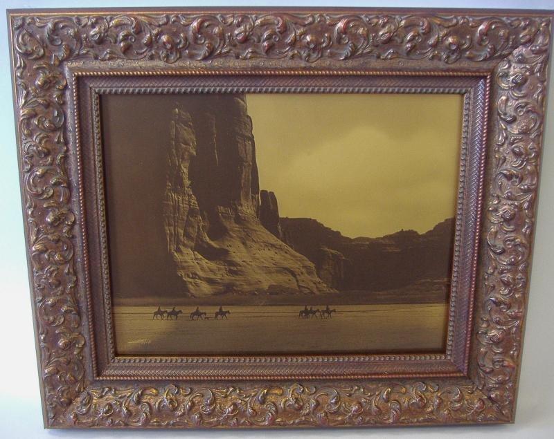 128: Edward S. Curtis Orotone Canon de Chelly Canyon - 2
