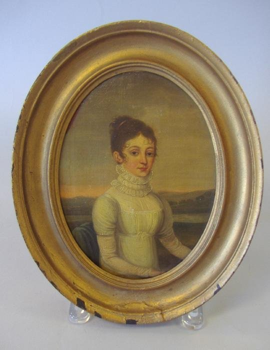 173: 19thc Oil Painting, Elizabeth Lingard of Stockport