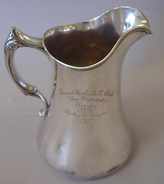 3: Sterling Silver Golfing Trophy Pitcher by Whiting