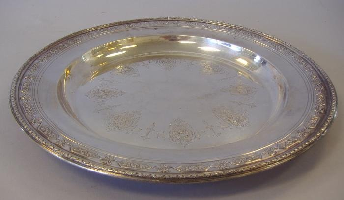 7: Towle Sterling Silver Serving Tray, Louis XIV