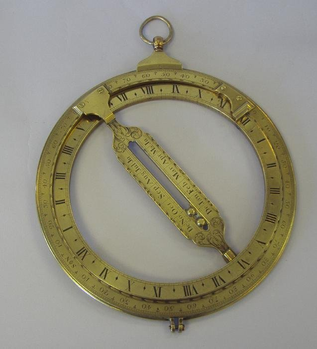 "141: 9"" Universal Equinoctial Ring Dial J Fowler London"