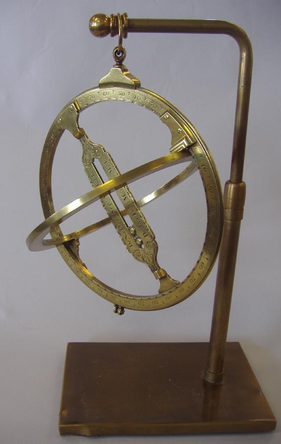 "141: 9"" Universal Equinoctial Ring Dial J Fowler London - 2"