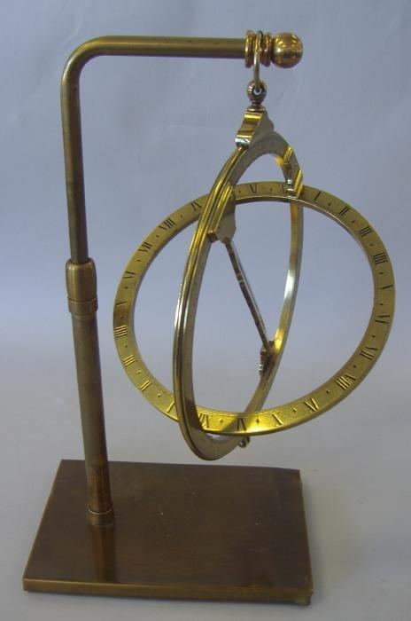 "141: 9"" Universal Equinoctial Ring Dial J Fowler London - 6"