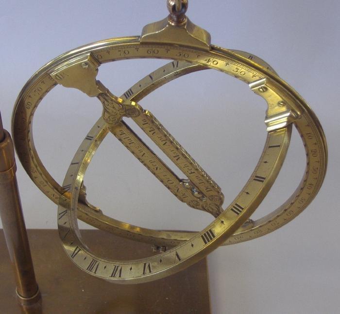 "141: 9"" Universal Equinoctial Ring Dial J Fowler London - 7"