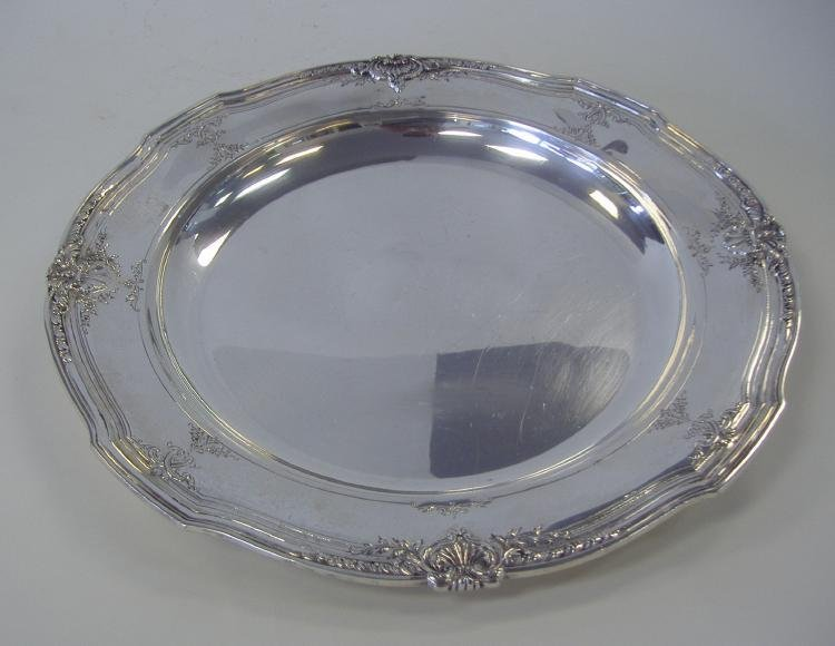 """2: Reed & Barton 14"""" Sterling Serving Tray"""
