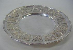 10: Hanau German Silver Tray, Putti & Greek God Motif