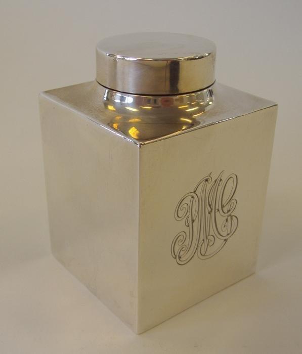 11: Gorham Sterling Silver Tea Caddy