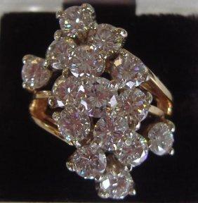 88: 4 Carat Diamond Ring set in 14K Gold