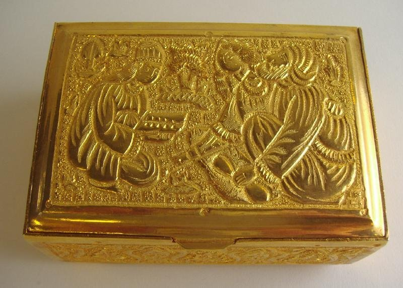 6: Middle Eastern Gilt Metal Gold Box