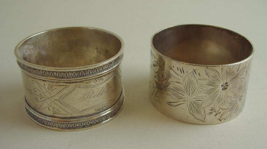 18: 2 Sterling Silver Napkin Rings