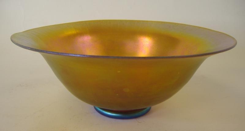 14: Steuben Aurene Iridescent Art Glass Bowl, signed