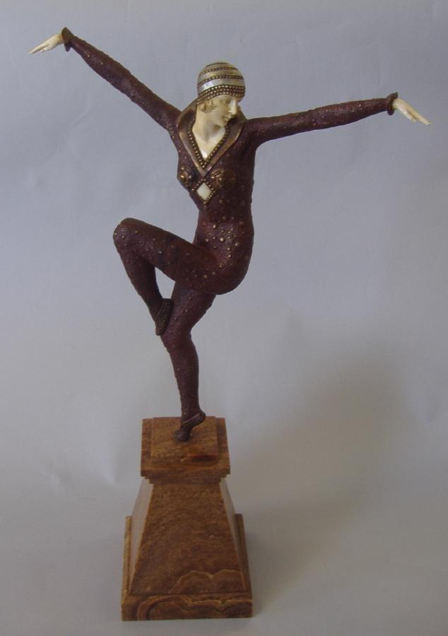18: Chiparus Bronze & Ivory Dancer of Kapurthala