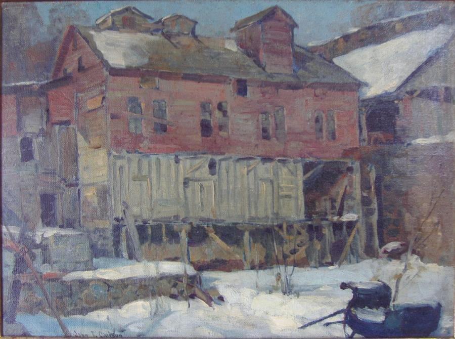 19: John Fabian Carlson (1874-1945) The Derelict, signd