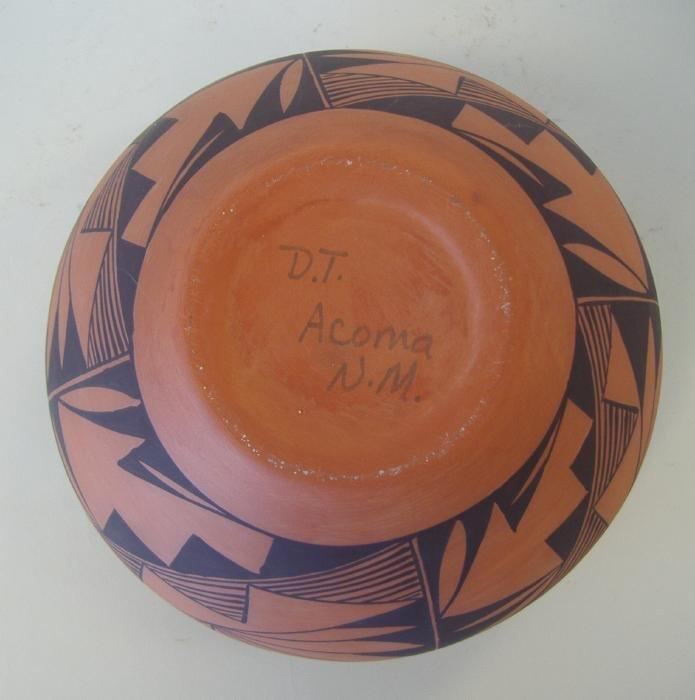 119: Acoma Pottery Vessel, Dorothy Torivio,  Signed DT - 3