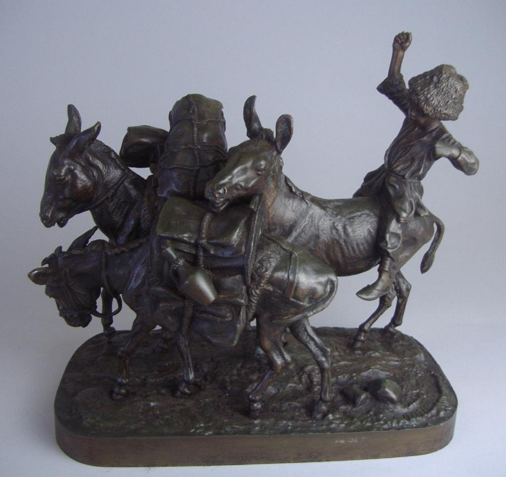 15: Evgenii Lanceray 19thc Russian Bronze, Cossack Boy