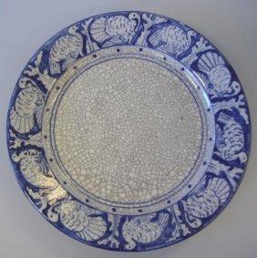 1: Dedham Pottery Turkey Border Thanksgiving Plate