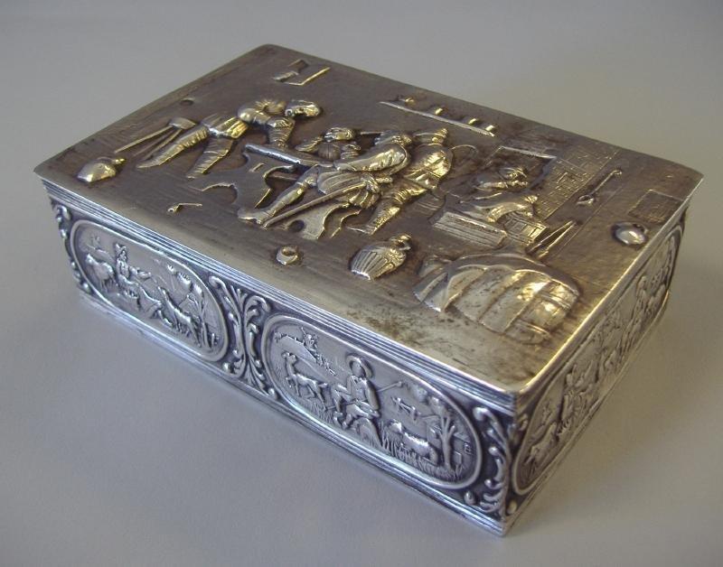 2: Dutch Holland Silver Repousse Box