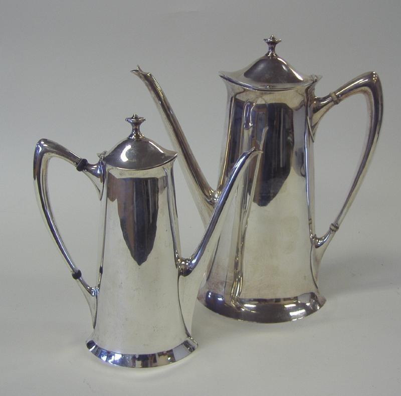 6: Art Nouveau Sterling Coffee Pot & Teapot, Towle