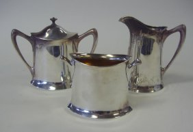7: Sterling Pitcher, Sugar Bowl & Waste Bowl by Towle