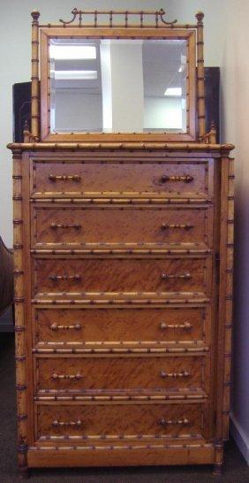 89: RJ Horner Faux Bamboo Lockside Dresser Chest