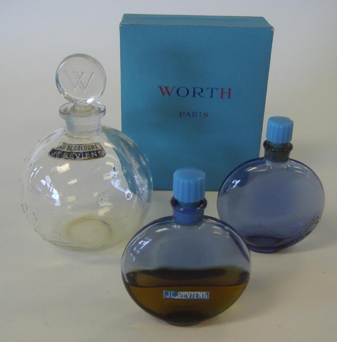 5: 3 R Lalique Glass Perfume Bottles, Je Reviens
