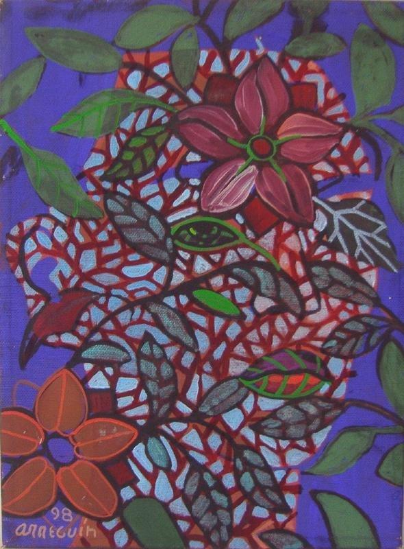 88: Alfredo Arreguin (1935- ) Oil on Canvas, Frida