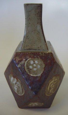3: Tatsuzo Shimaoka Stoneware Vase, signed