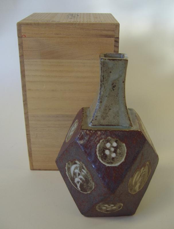 3: Tatsuzo Shimaoka Stoneware Vase, signed - 2