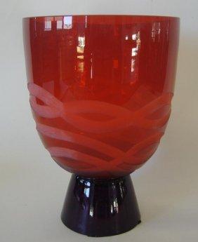 14: Waterford Evolution Art Glass Vase