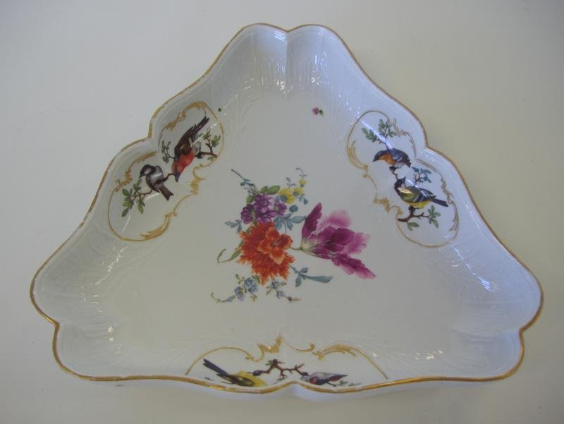 20: Meissen Porcelain Serving Bowl Rothschild Bird