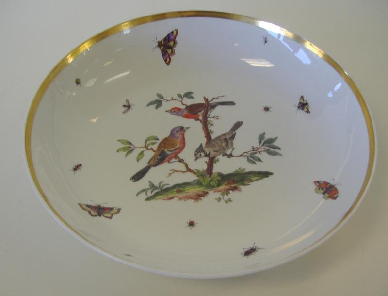 21: Meissen Porcelain Serving Bowl, Rothschild Bird