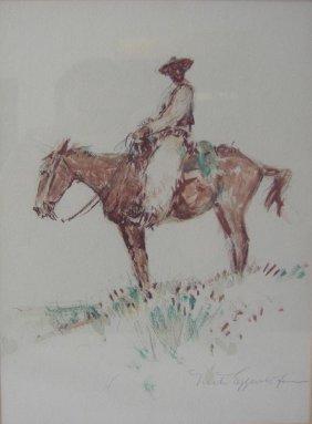 81: Nick Eggenhofer (1897-1985) Cowboy on Horseback