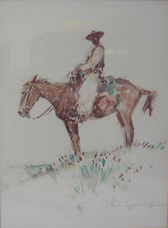 81: Nick Eggenhofer (1897-1985) Cowboy on Horseback