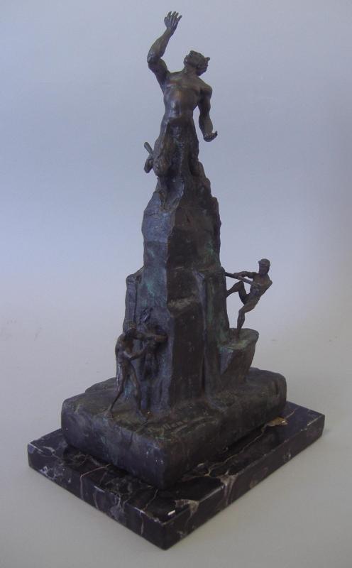 LATHRUP BULLENE Bronze Satyr Pan, Medusa & Minions