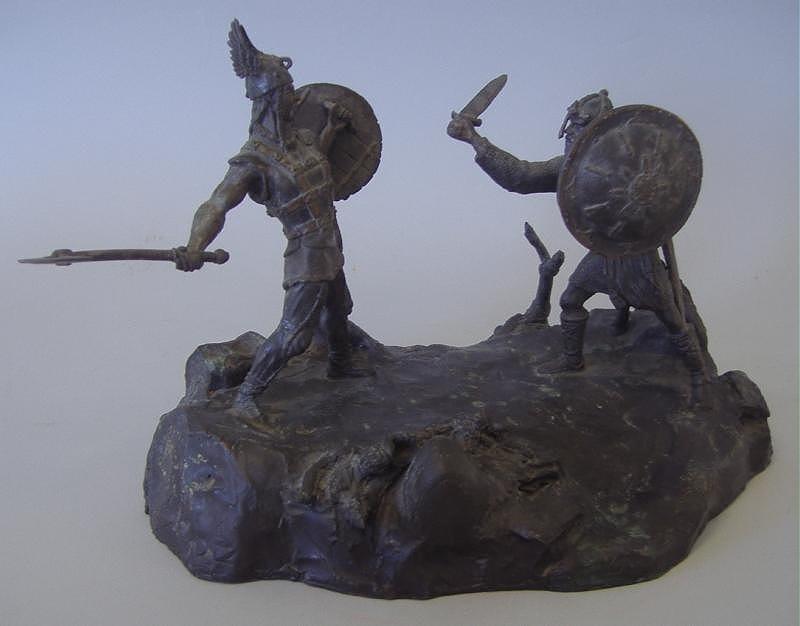 LATHRUP BULLENE Bronze, Viking in Battle